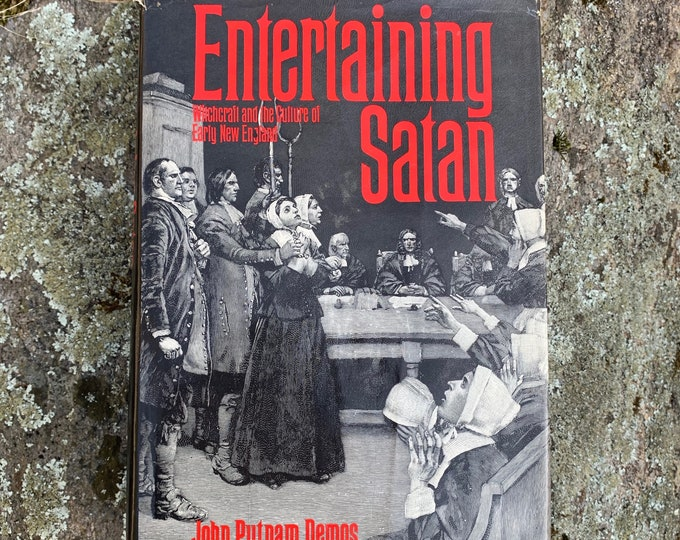 A Entertaining Satan Salem Witch Trials Hardcover Book Wiccan Witch Witchcraft Coven Occult Salem Massachusetts Witchhunt Hex History Tarot