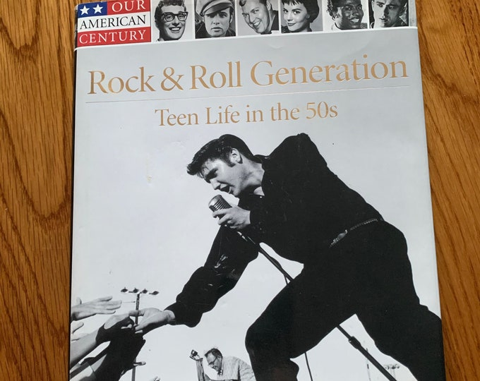 Time/Life Teen Life in the 50's Elvis Presley Hardcover Book 1999 James Dean Little Richard Natalie Wood American Bandstand Hot Rods Greaser