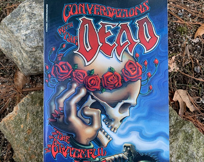 Vintage 1991 Conversations with the Dead Jerry Garcia Grateful Dead Softcover Book Bob Weir Woodstock Psychedelic Jim Morrison Drugs Hippies