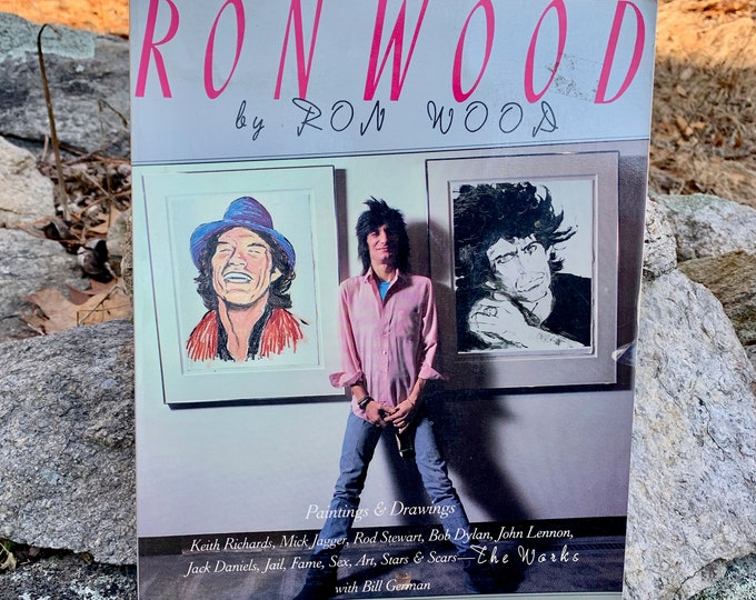 Vintage 1987 Ron Wood Art Drawings Softcover Book Paintings Mick Jagger The Rolling Stones Keith Richards CharlieWatts Ron Wood Bill Wyman