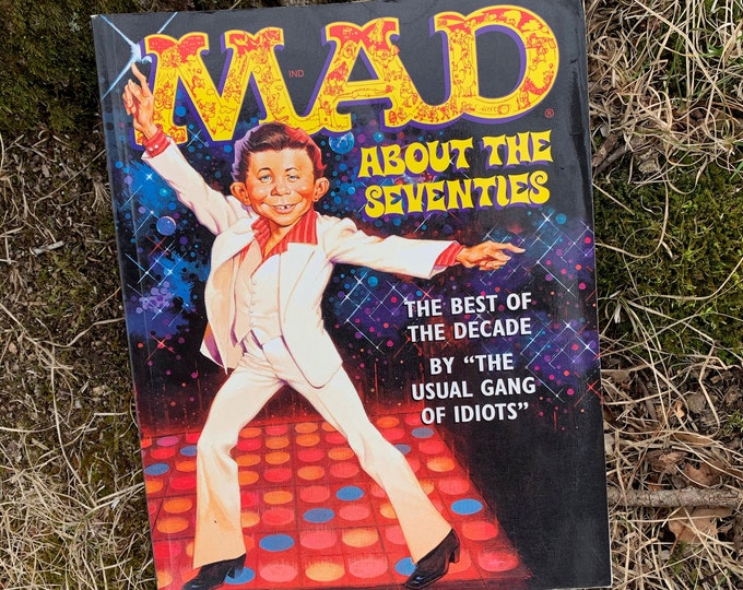 1996 MAD About the Seventies Mad Magazine Alfred E Neuman Comic Book Comics Silly Comedy Comic Strip Funny LOL Hippies 70s Disco