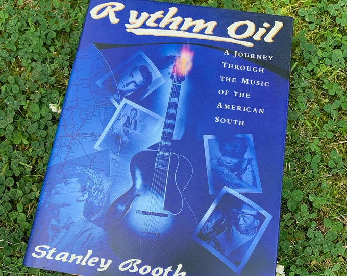 Vintage Rythm Oil  Hardcover Book 1991 Stax Records BB King Elvis Presley WC Handy James Brown Howlin Wolf Jerry Lee Lewis Sun Records Blues