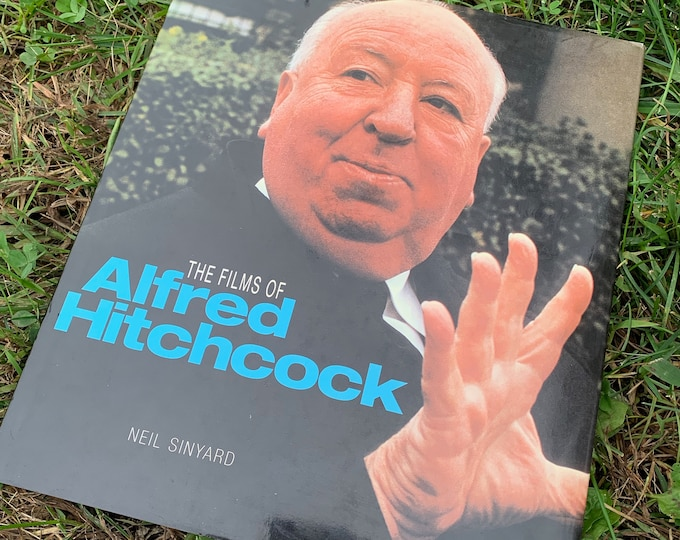 Vintage 1994 The Films of Alfred Hitchcock Hardcover Book Vertigo Psycho Ghost Halloween Horror Cemetery Witchcraft Books Gothic Mystery