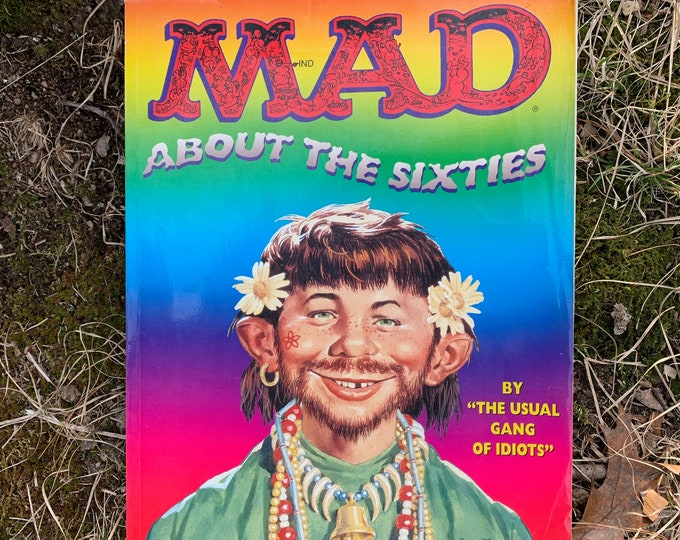 1996 MAD About the 60s Mad Magazine Alfred E Neuman Comic Book Comics Silly Comic Strip Funny LOL Hippies Sixties Woodstock Three Stooges