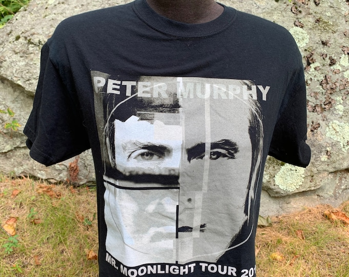Peter Murphy Tour Band Shirt Bauhaus (M) Goth Gothic Sisters of Mercy The Smiths TheCure Siouxsie and the Banshees Echo and the Bunnymen