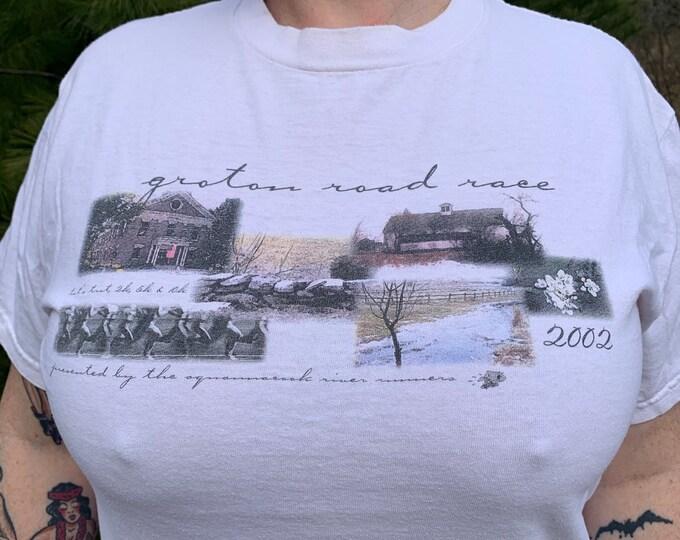 2002 Groton Road Race 10K T Shirt (M) Boston Marathon New England Florence Griffith Joyner Jackie Joyner Kersee Athlete Sport Sports