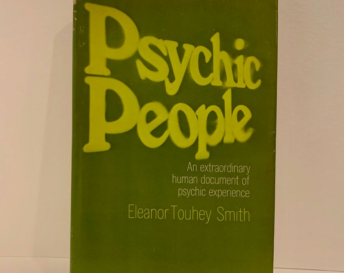 Vintage 1968 Psychic Power Hardcover Book Astrology Clarvoyant Spiritual Healing Palmistry Fortune Teller Stars Witchcraft Afterlife Ghosts
