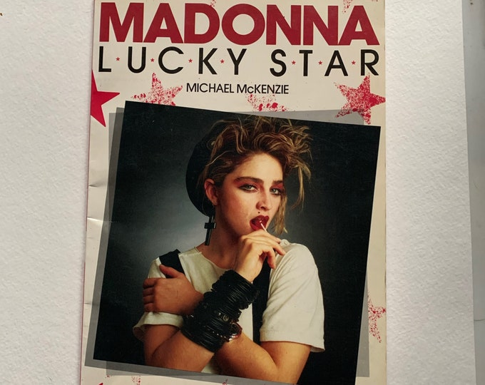 VINTAGE 1986 Madonna Softcover Book Like A Virgin Blonde Ambition Vogue Lady Gaga Dance Britney Spears Kylie Minogue Cher Miley Cyrus MTV