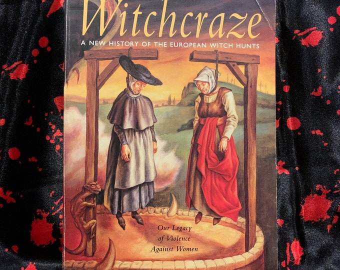 Witchcraze History of European Witch Hunts Softcover Book - Wiccan Witchy Witchcraft Coven Occult Hex History Tarot Heresy Heretic Crone Hex