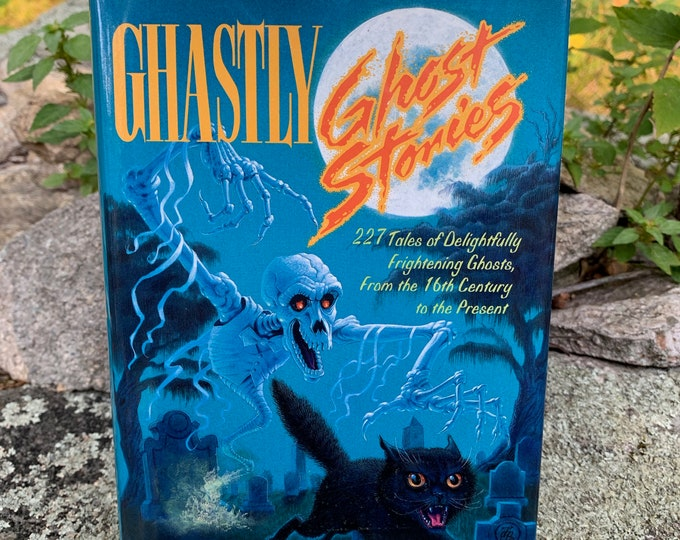Vintage 1991 Ghastly Ghost Stories Hardcover Book Horror HP Lovecraft Hypnos Haunting Scary Terror Short Stories Urban Legend Halloween
