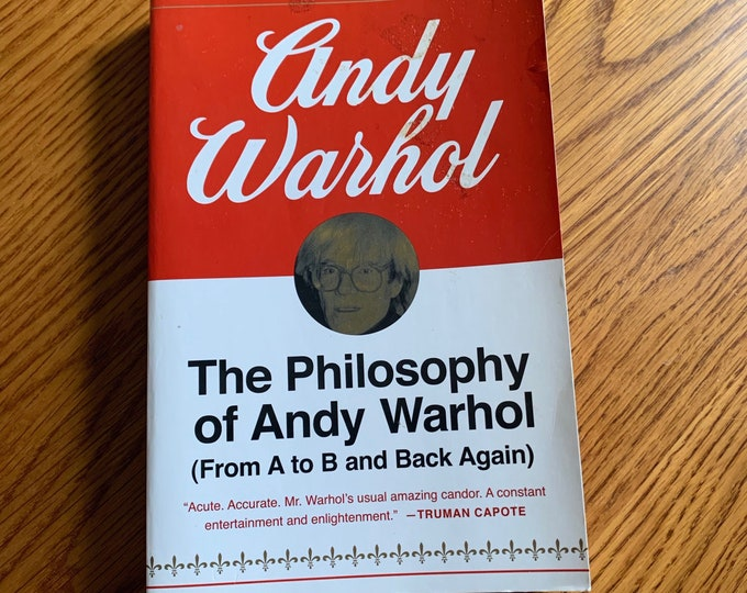 The Philosophy of Andy Warhol Softcover Book Velvet Underground Lou Reed Edie Sedgwick Allen Ginsberg John Cale Jim Morrison David Bowie