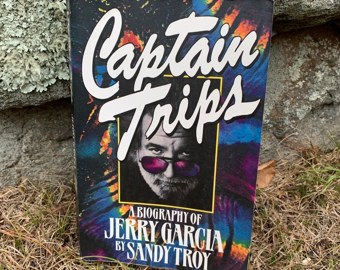 Vintage 1994 Captain Trips Jerry Garcia Grateful Dead Softcover Book Bob Weir Woodstock Psychedelic Jim Morrison Jimi Hendrix Drugs Hippies