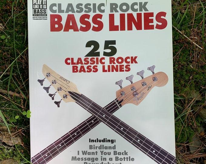 Classic Rock Bass Guitar Tab Sheet Music - Bassist Lenny Kravitz  Weather Report Jaco Pastorius Ted Nigent Little Feat Black Sabbath The Who