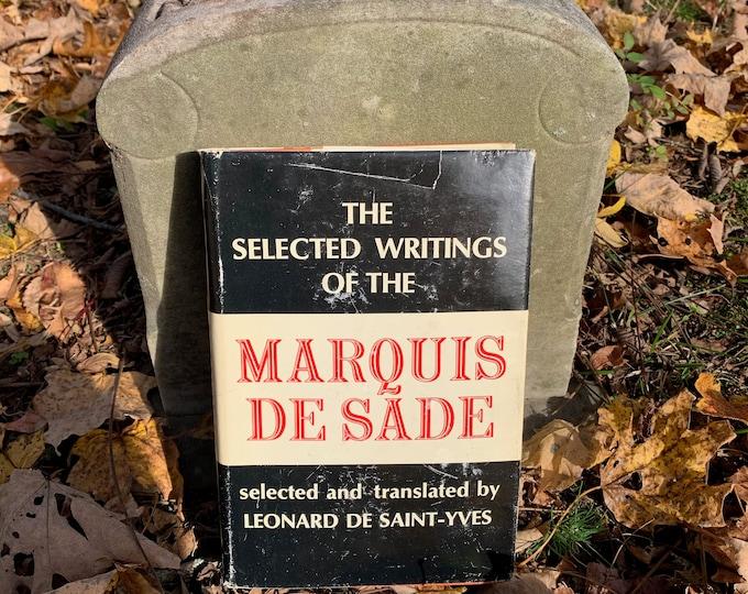 Vintage Marquis De Sade Hardcover Book 1954 Gothic History Sadist BDSM Bondage Sigmund Freud Voltaire Sexuality Libertine Sex Crime Sodom