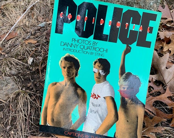 VINTAGE 1986 The Police Softcover Book Buzzcocks Mods The Clash The Damned STING Andy Summers Stewart Copeland The Jam Paul Weller ROXANNE