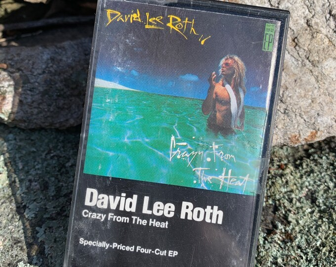 Vintage David Lee Roth Crazy From The Heat Solo EP Cassette Tape Van Halen California Girls Bret Michaels Vince Neil Motley Crue Steve Vai