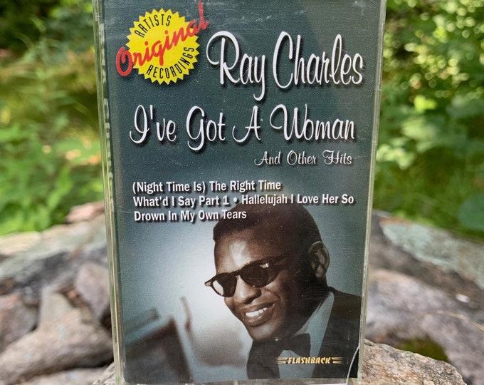 Ray Charles I've Got a Woman & Other Hits Greats Cassette Tape Blues Brothers Ella Fitzgerald Etta James Solomon Burke Wilson Pickett Jazz