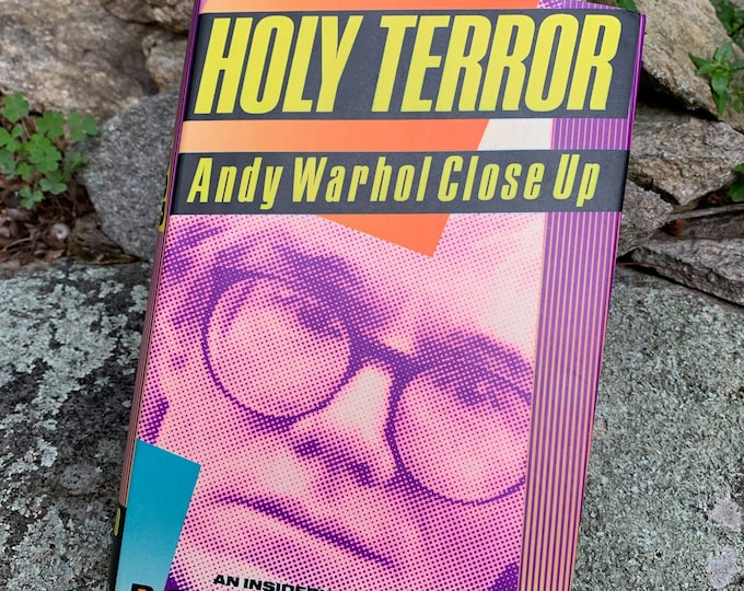 VINTAGE 1990 Andy Warhol Holy Terror Hardcover Book Velvet Underground Lou Reed Edie Sedgwick Allen Ginsberg CBGB Jim Morrison David Bowie