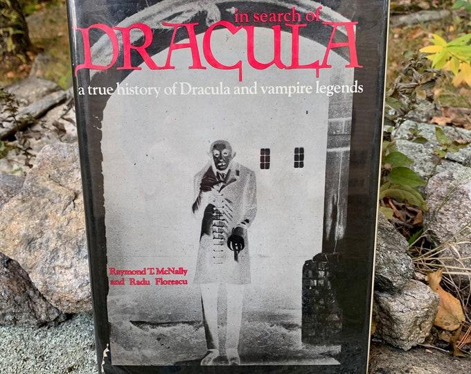 Vintage 1972 In Search Of Dracula Hardcover Book Horror Nosferatu Vampire Frankenstein Werewolf Lon Chaney Bela Lugosi Max Schreck Royalty