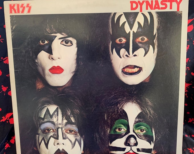 Vintage 1979 KISS Dynasty 33 rpm VINYL W/ Poster & Inserts Gene Simmons Ace Frehley Paul Stanley Peter Criss Disco Guns n Roses GNR Wasp