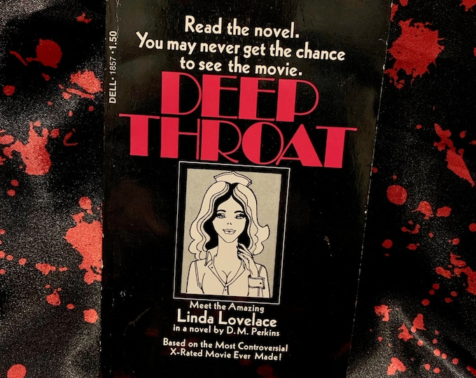 Vintage 1973 Deep Throat Softcover Book Erotic Novel Sexual Experiences Psychology Psychosexual Erotica Linda Lovelace The Happy Hooker