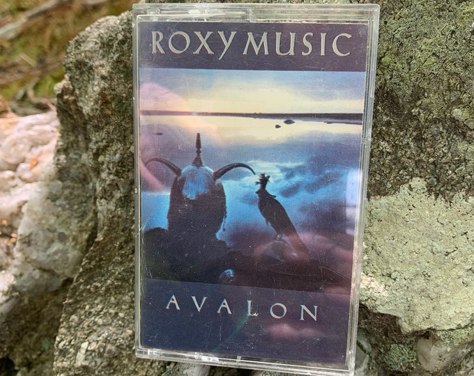 Roxy Music Avalon Cassette Tape New Wave Bryan Ferry Brian Eno Talking Heads  Gary Numan B52s Glam TRex Marc Bolan David Bowie Echo Bunnymen