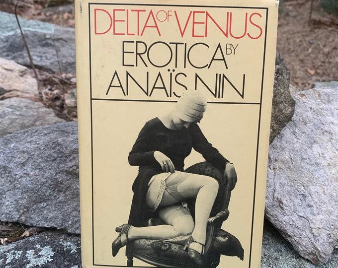 Vintage 1977 Delta of Venus Erotica By Anais Nin Fetish Hardcover Book Sexual Kinky Corset Burlesque BDSM Bondage Shibari Kinbaku Whip Sex