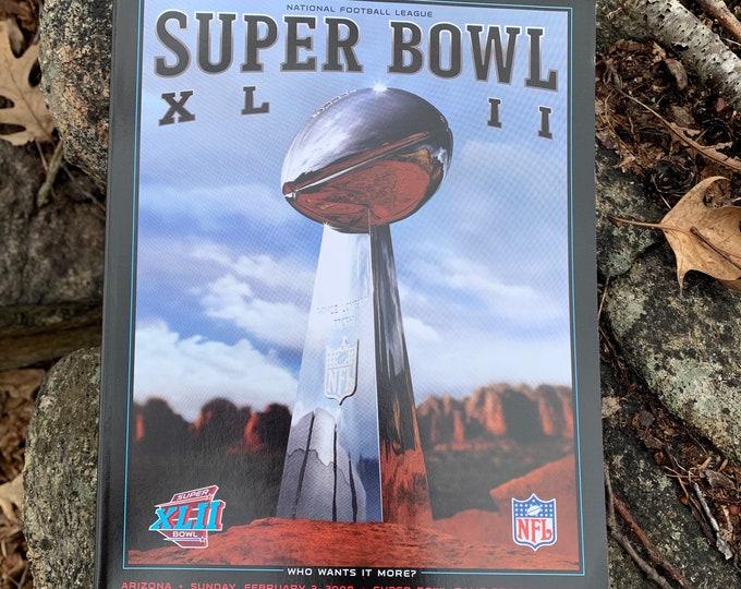 NFL 2008 Super Bowl XLII Collectible Souvenir Game Program New York Giants vs New England Patriots NFL Touchdown Quarterback Eli Manning