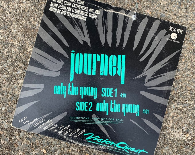 "Vintage 1985 12"" Single VINYL Journey Visionquest Only The Young Steve Perry Neal Schon Foreigner REO Speedwagon Styx The Babys Toto ZZ Top"