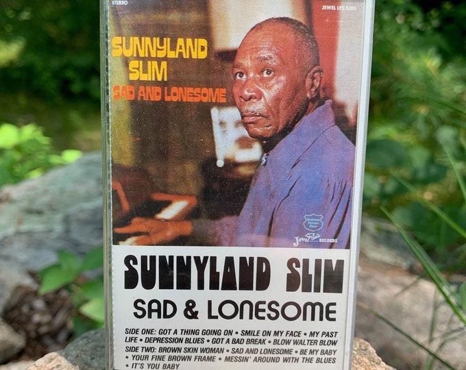Vintage Sunnyland Slim Sad & Lonesome Cassette Tape Muddy Waters Willie Dixon BB King Robert Johnson Elmore James Buddy Guy Blues Leadbelly