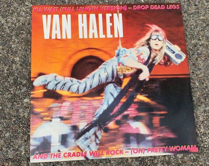 "Vintage 1984 Van Halen 12"" Single VINYL David Lee Roth Montrose Eddie Alex Michael Anthony Skid Row Mick Mars Night Ranger Yngwie Malmsteen"