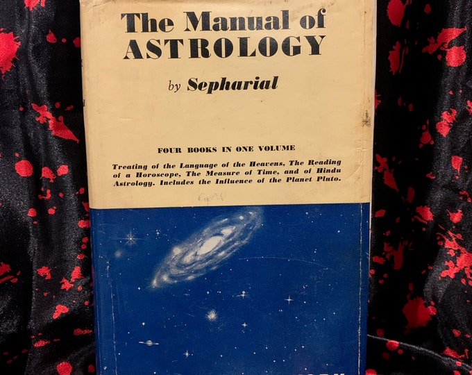Vintage 1962 The Manual of Astrology Hardcover Book Witch Horror Occult Palm Reading Psychic Gypsy Crystals Tarot Cards Witchcraft Religion