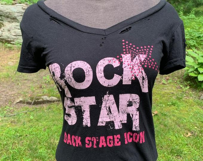 Ladies Rock Star (Small) Backstage Icon Groupie Punk Metalhead Punkrock Sexy Allman Brothers RHCP Nirvana Iron Maiden Judas Priest Pearl Jam