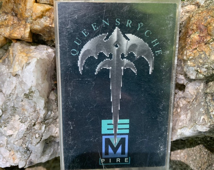 Vintage 1990 Queensryche Empire Cassette Tape Whitesnake Deep Purple Black Sabbath Judas Priest Rammstein Kingdom Come Symphony X Nevermore