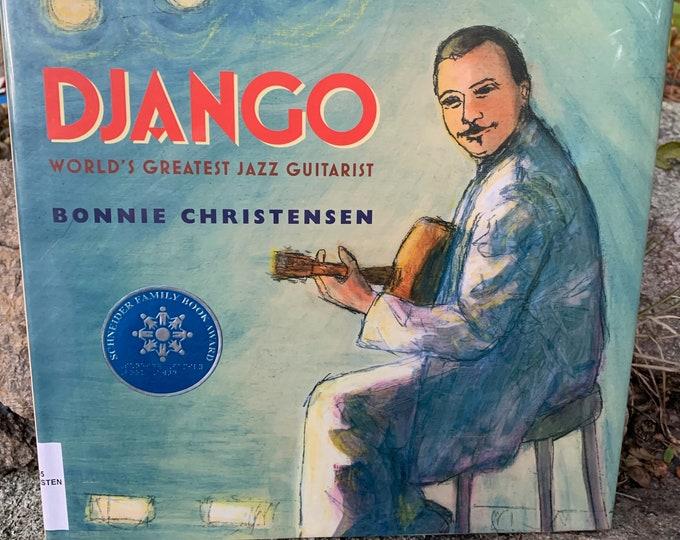 Django Reinhardt Hardcover Children's Book Jazz Bebop Gypsy Miles Davis John Coltrane Art Blakey Charles Mingus Lester Bowie Wes Montgomery