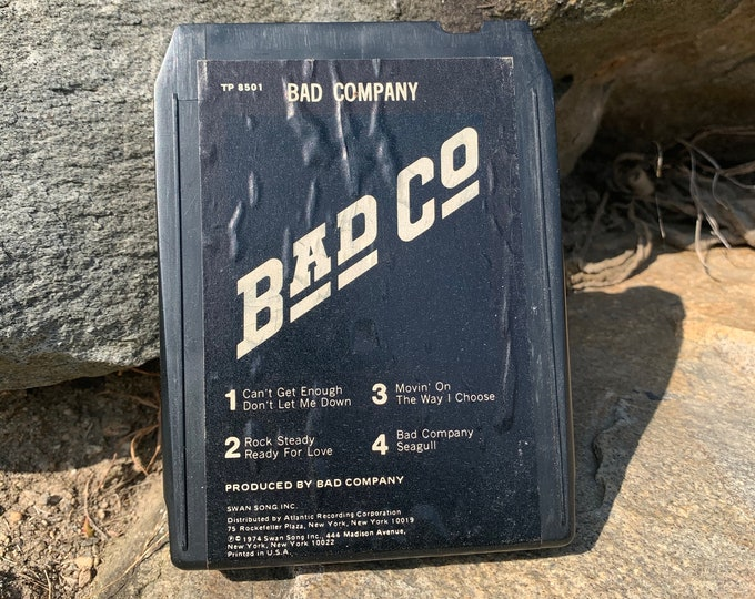 Bad Company 8 Track Tape Paul Rodgers Free The Firm Eric Clapton Bachman Turner Overdrive Frank Marino Rory Gallagher Alvin Lee Aerosmith