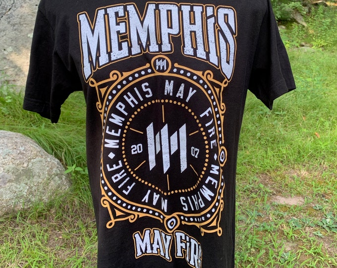 Memphis May Fire Band Shirt (M) Metalcore Metal August Burns Red BlessTheFall Underoath Parkway Drive Asking Alexandria Attila