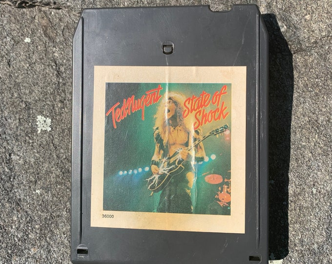 Ted Nugent State Of Shock 8 Track Tape Amboy Dukes  Eric Clapton Bachman Turner Overdrive Frank Marino Rory Gallagher Alvin Lee Aerosmith