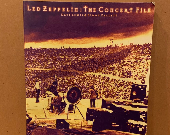Led Zeppelin Softcover Book 1997 The Concert Files Zoso Jimmy Page Robert Plant John Bonham John Paul Jones Deep Purple The Who Thin Lizzy