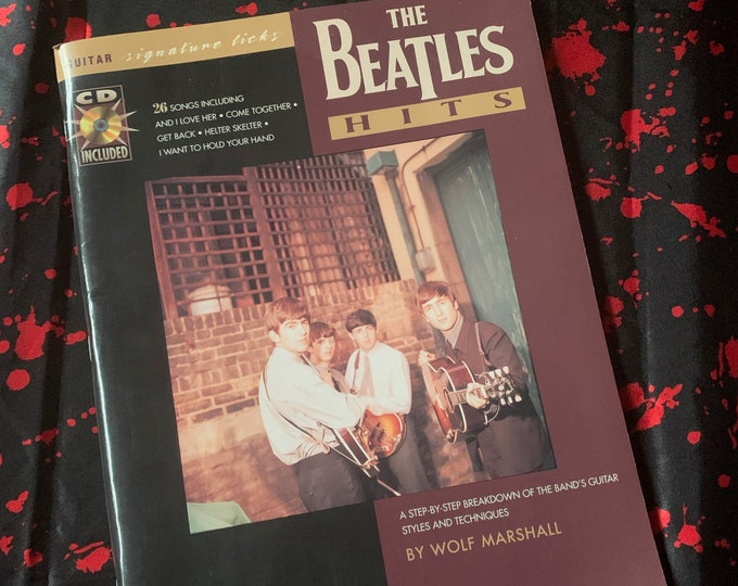 VINTAGE 1997 Beatles Hal Leonard Softcover Book Sheet Music Guitar Tabs with CD  Let it Be Abbey Road Paul McCartney John Lennon Ringo Starr