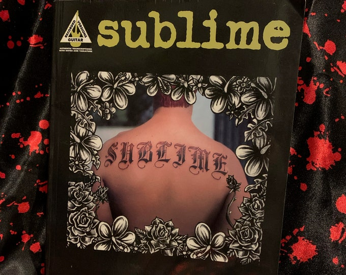 Vintage 1997 Sublime Guitar Tabs Ska Pop Bradley Nowell Reefer No Doubt Slightly Stoopid Bad Fish Reel Big Fish Bob Marley Marijuana