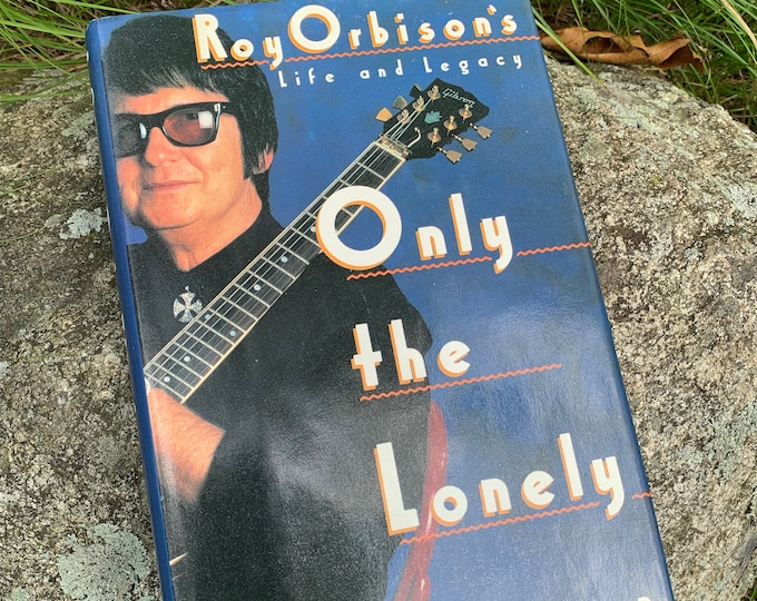 Vintage Only The Lonely Roy Orbison Hardcover Book 1989 Traveling Wilburys Emmylou Harris Tom Petty Elvis Presley The Beatles Bo Diddley
