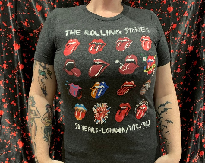 The Rolling Stones Band Shirt (S) Mick Jagger Keith Richards Charlie Watts Brian Jones Ronnie Wood The Who Chuck Berry Buddy Holly The Kinks