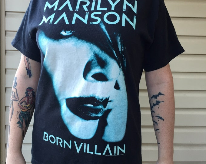MARILYN MANSON Band Shirt - 2013 Tour Shirt (size MED) Goth Gothic Metal Gothmetal GothGoth Gothrock Band Tee Sweet Dreams John5 Rob Zombie