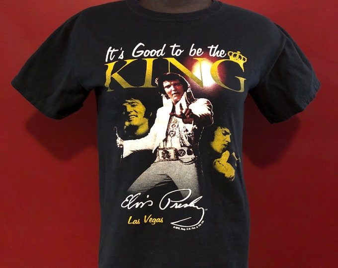 The King Sexy Elvis Presley Band Shirt (S) Graceland Memphis 68 Comeback Special All Shook Up Love Me Tender Burning Love Viva Las Vegas