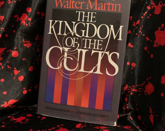 1985 Kingdom of the Cults Hardcover Book Wiccan witch Religion coven Anton Lavey occult Salem Massachusetts