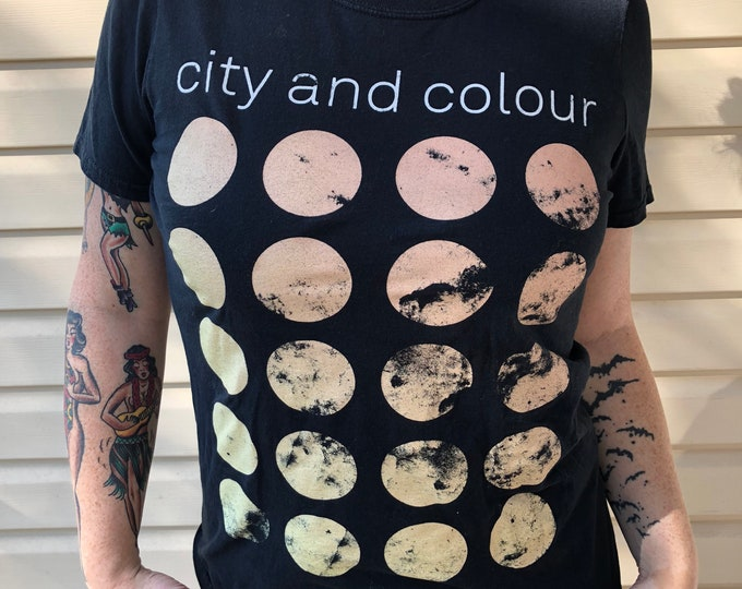 City and Colour Ladies Small Band Tee Band shirt  Dallas Green  Canadian Indie Rock  Gord Downie Alexisonfire Watch out Boiled Frogs Thrice