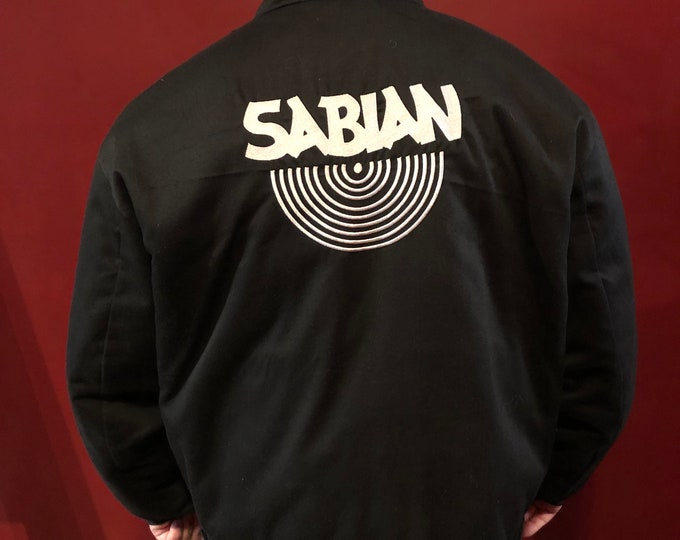 SABIAN CYMBALS Lightweight Jacket Drums Drummer Drumming Percussion Hi Hat Snare Drum Neil Peart Phil Collins Terry Bozzio John Bonham