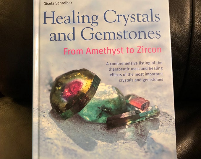 Healing Crystals & Gemstones Gems Hardcover Book 2002 Tarot Cards Witch Occult PalmReading Psychic Crystals Amulets Gypsy CrystalBall Chakra