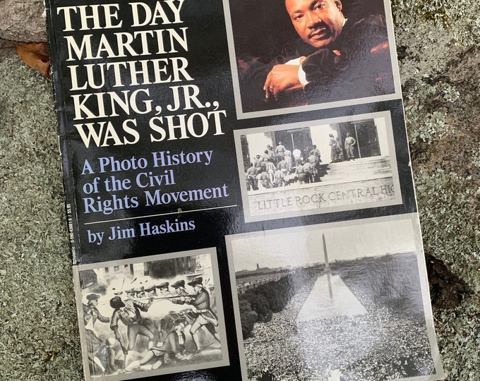 Vintage The Day Martin Luther King Jr Was Shot I Have A Dream Malcolm X Rare Softcover Paperback Book 1992 Black History  Elijah Muhammad